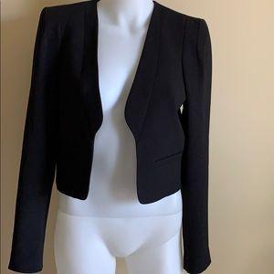 NWT ZARA Black Cropped Tuxedo Style Jacket, S